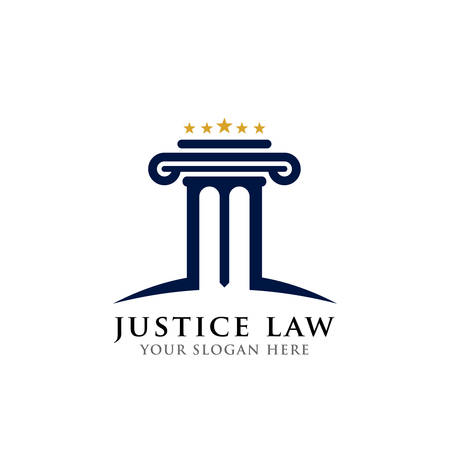 pillar logo design template. justice law and attorney logo design template Logo