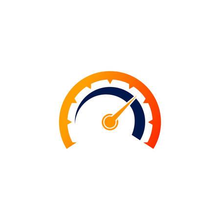 icône de vecteur d'indicateur de vitesse. modèle de conception de symbole de compteur de vitesse