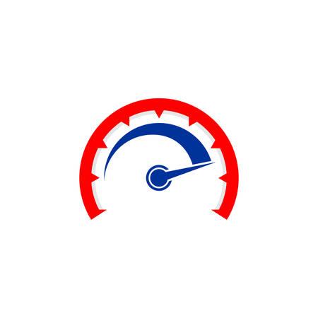 speed indicator vector logo design. speedometer icon symbol design template Logo