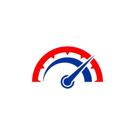 speed indicator vector icon. speedometer symbol design template