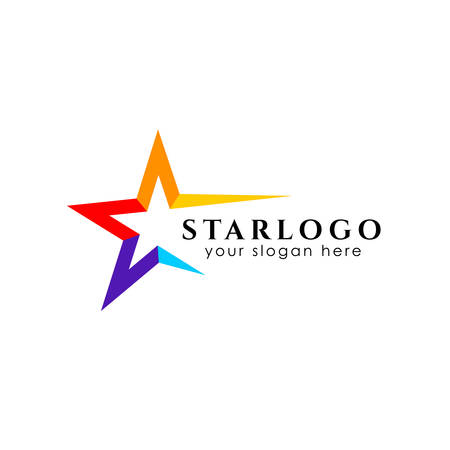 colorful star logo design stock template. star vector icon Иллюстрация