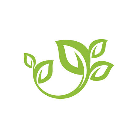 nature green leaf element vector icon. green leaves vector symbol design Ilustrace