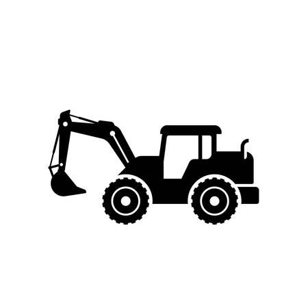 silhouette de conception de vecteur de pelle. symbole de signe d'icône de pelle.