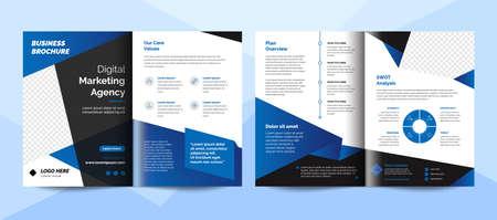 Creative corporate business brochure template. Corporate business flyer template. 矢量图像