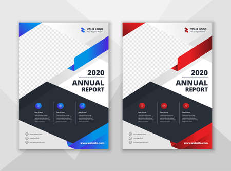 Creative annual report design template. Corporate business flyer template