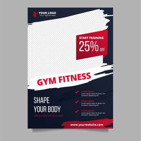 Sport poster design template for gym fitness