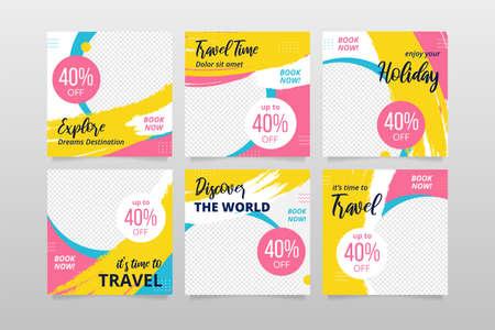 Travel banner for social media post advertising