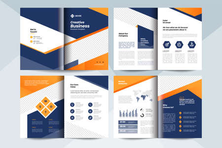 Creative business brochure layout template.