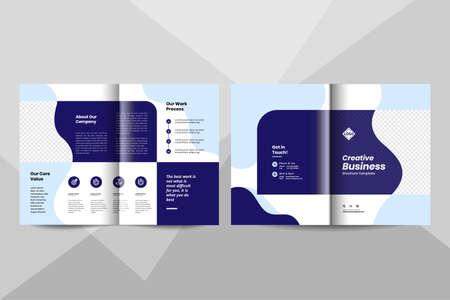 Creative business bi-fold brochure design template.