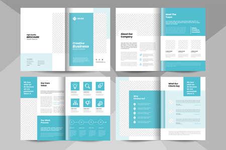 Creative business brochure template. Corporate business booklet template. 矢量图像