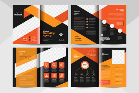 Multipurpose brochure layout template. Corporate business booklet template.