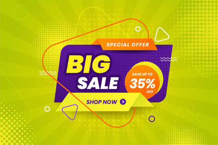 Big sale discount banner promotion