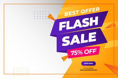 Flash sale discount banner promotion 矢量图像