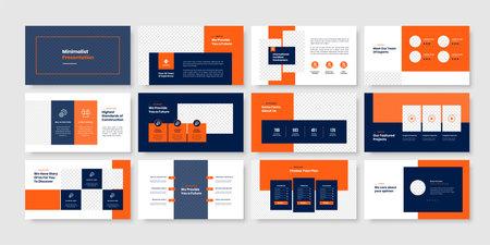 Construction minimal slides presentation template