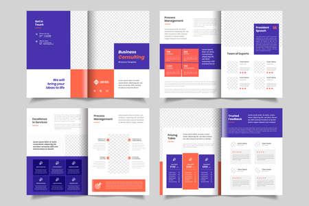 Minimal business brochure or booklet design template 矢量图像