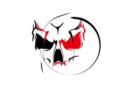 monster on white background in vector illustration
