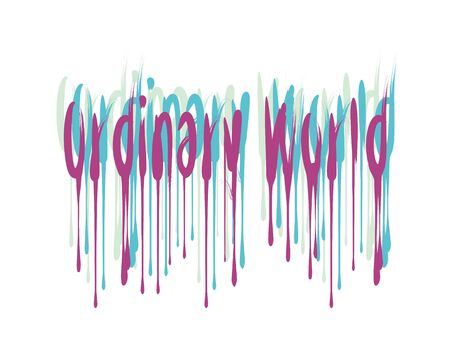 Ordinary World lettering text on white background in vector illustration 일러스트