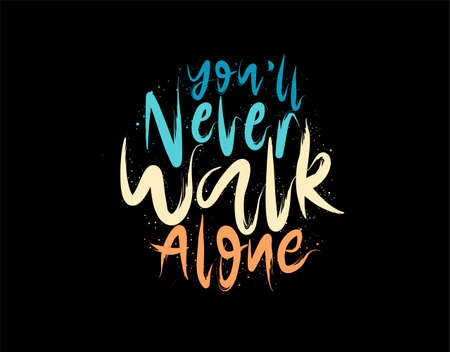 One More Light lettering Text on black background in vector illustration Ilustração