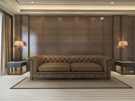 classic living room: 3d rendering classic sofa with luxury decor and nice furniture