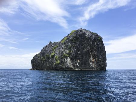 nice shape island on beautiful andaman sea Stock Photo