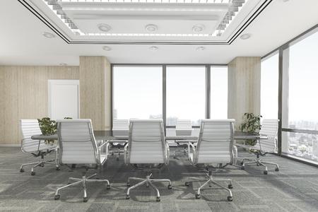 3d rendering meeting room on office building Zdjęcie Seryjne