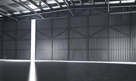 3d rendering beautiful empty warehouse 写真素材