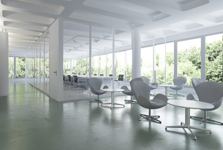 3d rendering business meeting room on office building Banque d'images