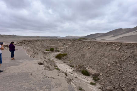 Nazca-South America Tectonic Fault-Peru The main factor behind this seismic activity is the interaction of two tectonic plates along the west coast of South America. Here, the dense Nazca plate, locat