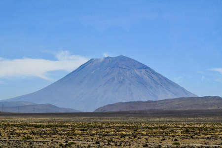Misti volcano Misti, also known as Putina or Guagua Putina is a volcano located in southern Peru, near the city of Arequipa. With its symmetrical cone seasonally covered with snow, Misti is 5,822 m