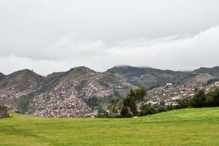 Cusco the Historical Capital of Peru-view  from  Sacsayhuaman The city was the historic capital of the Inca Empire from the 13th century until the 16th-century Spanish conquest.