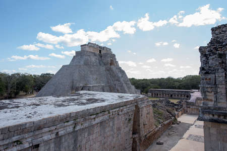Uxmal Archaeological Complex is the best preserved Mayan remains in Yucatan Peninsula.Representative constructions of site are:the Leader's Palace,Magician's Pyramid,Administrative Palace,platform use