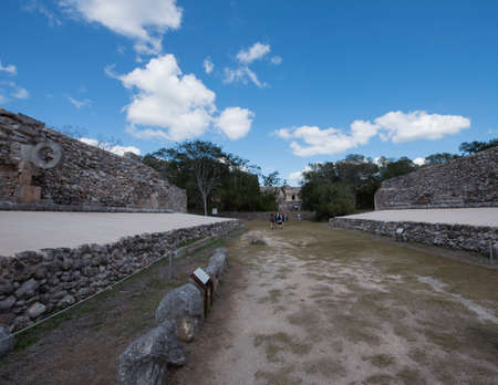 Sports ground at the UxmalArchaeologicalComplex And here the famous PokTaPok is played.The Mayan game in which one of the teams was killed and offered an offering to the gods.It is played using a ball