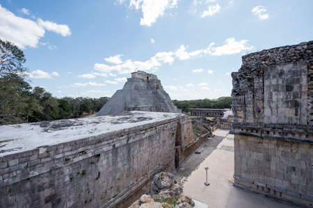Uxmal Archaeological Complex is the best preserved Mayan remains in Yucatan Peninsula.Representative constructions of site are:the Leader's Palace,Magician's Pyramid,Administrative Palace.