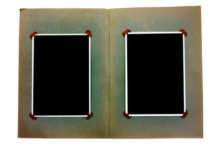 blanked: Vintage photo album with blanked photos Stock Photo