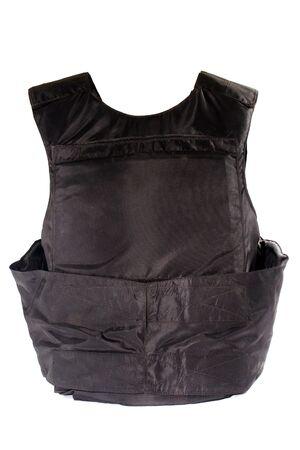 bulletproof: Chaleco antibalas. Aislado en blanco.