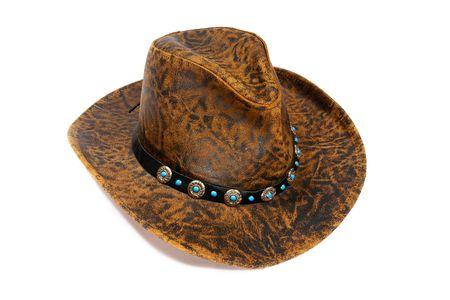 Cowboy hat. Isolated on white                                photo