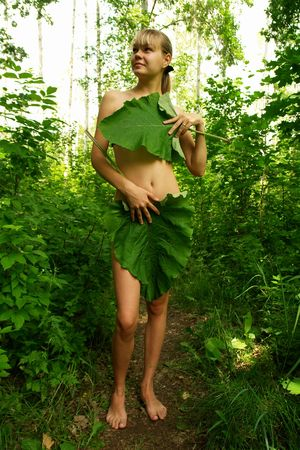 Tarzan girl. Summer in Russia.