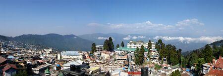 himalayas: Panoramic photo of Darjeeling (West Bengal, India), Himalayas                                Stock Photo
