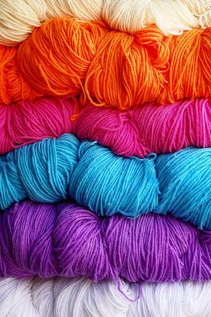 tibetian: Tibetian woolen yarn of different colors.