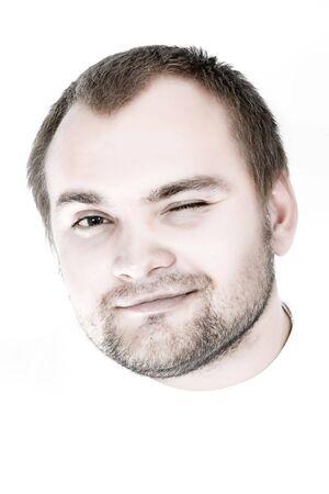 Portrait of smiling man. Isolated on white background. Stock Photo - 3564364