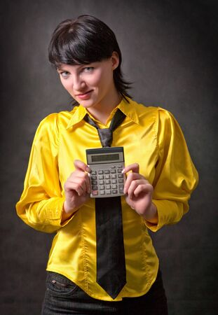 Portrait of businesswoman dressed in yellow.  Stock Photo - 4175499