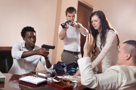 Robbery in the office.  photo