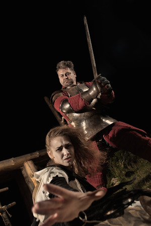 beldam: Medieval knight is going to make an execution of a witch