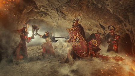 mortal: Mortal combat of powerful knights in heavy armor in the Forbidden Caves.