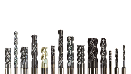 Professional cutting tools used for metalwork/woodwork. Isolated on white background.