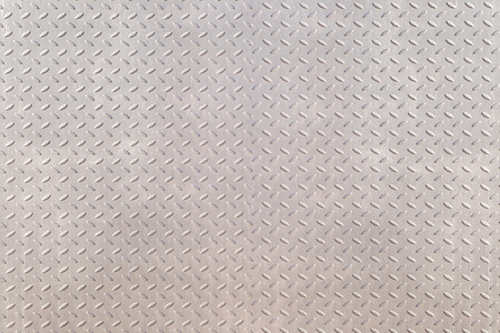 Used checkered painted steel plates background.