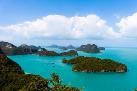 marine bird: Bird eye view of Angthong national marine park Thailand