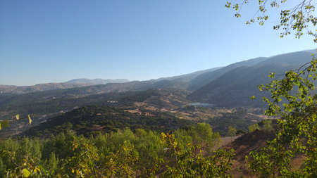 Taken while hiking through the mountains of Lebanon during a Summer day. Lots of beautiful nature and a landscape that is truly breathtaking. Stock Photo