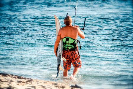 kiteboarding: Kiteboarding. Fun in the ocean, Extreme Kitesurfing.