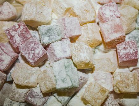Sweet tart in sugar powder